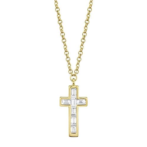 Necklace Mini Baguette Cross