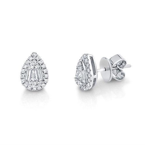 Pear Shape Stud Earrings