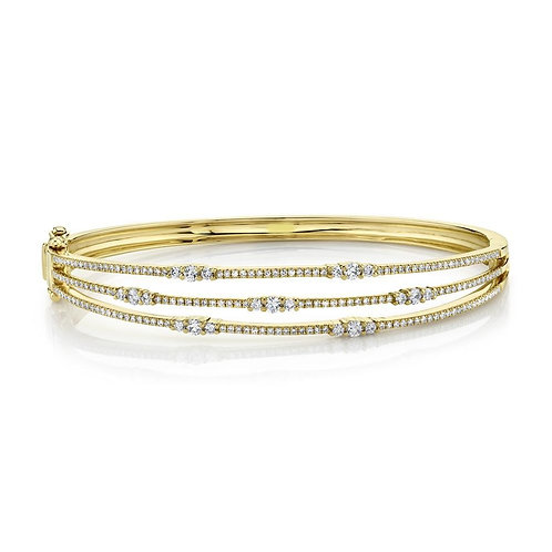 Yellow Gold and Diamond Bangle