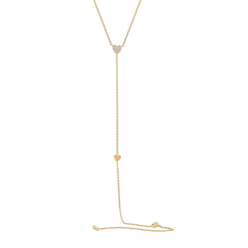 Necklace Lariat Hearts