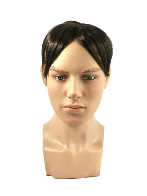 233K Synthetic Clip On Toupee