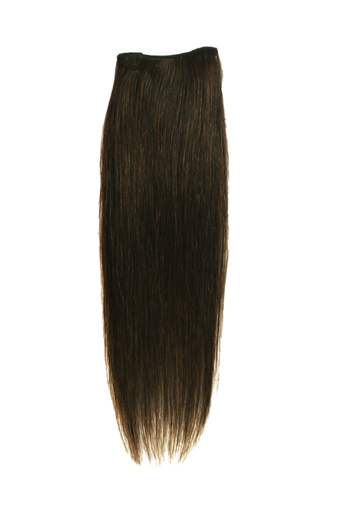 "Keira Human Hair Extensions Bra Length 16"" 2-clip, Natural Color L16W4"