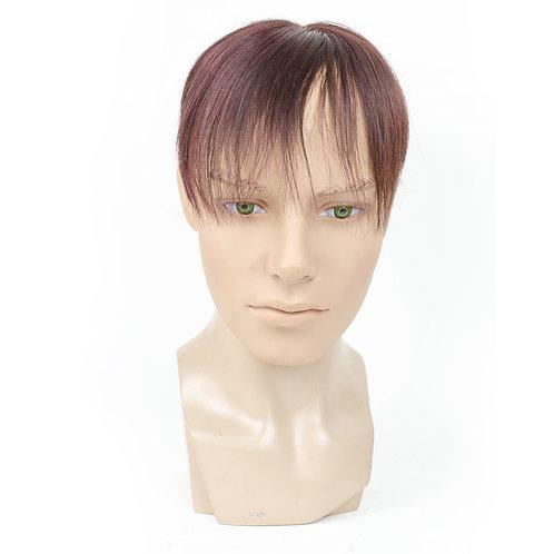 Ben Human Hair Toupee in Reddish Brown
