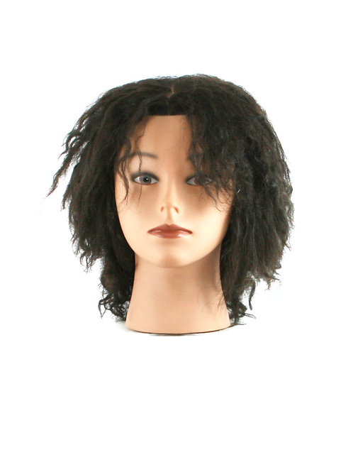 Training / Mannequin Head TH-PP17C08DQ-1B 100% Human Hair 8 inches