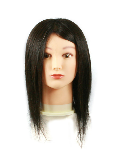 Training / Mannequin Head TH-PP6K-1B 100% Human Hair 14 inches