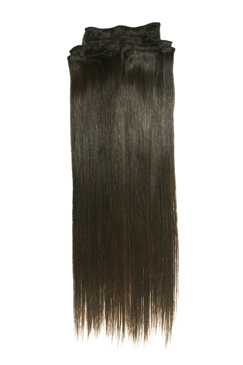 22 Inches 2 DARK BROWN - Full Head Package