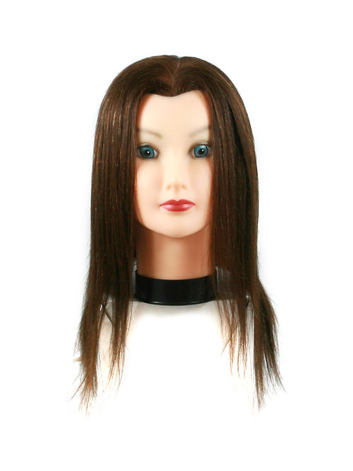Training / Mannequin Head TH-B0II14D-3B-2 100% Human Hair 14 inches long
