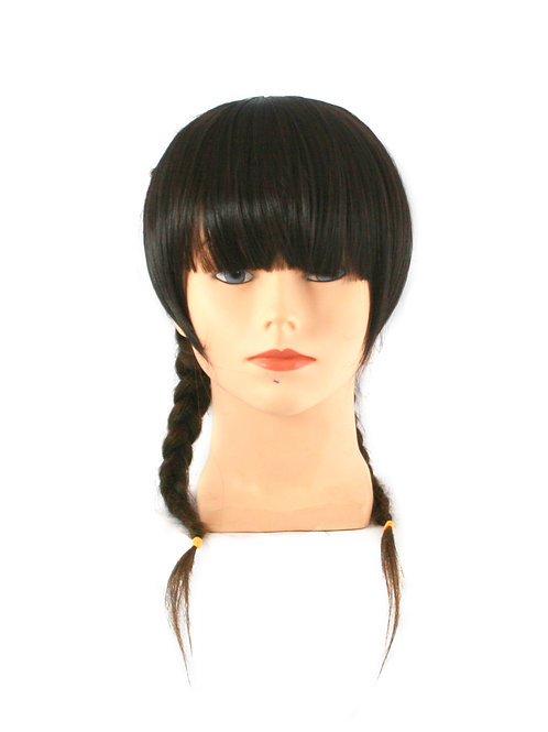 Long Full Fringe w Sideburn 039 Synthetic Clip-on Bangs