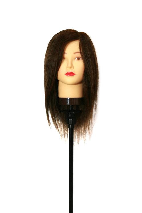16 Inches, Color 2(Dark Brown), 100% Human Hair - Fair Shade