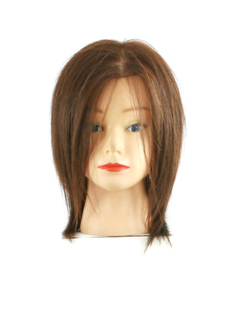 Training / Mannequin Head PP3C10R 100% Human Hair 10 inches long