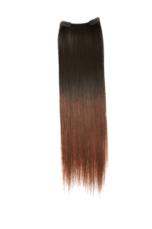 """Keira Human Hair Extensions Bra Length 16"""" 2-clip, Ombre Color L16W4"""