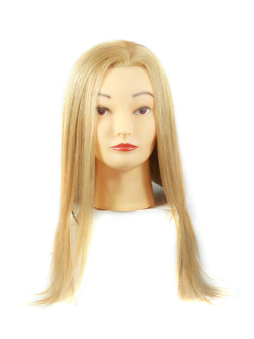 Training / Mannequin Head TH-PP4I12R-27 100% HUMAN HAIR 12inches long BLONDE