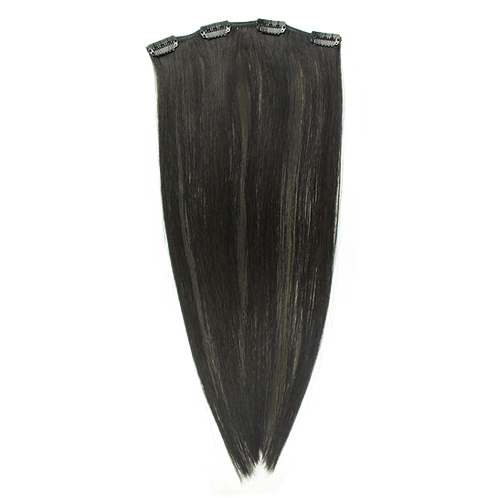 "Keira Human Hair Extensions Bra Length 16"" 4-clip, Natural Color L16W8"