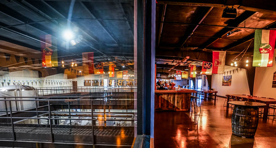 Looking out to the Brewhouse