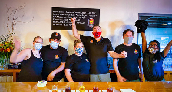 Taproom Staff Opening Day
