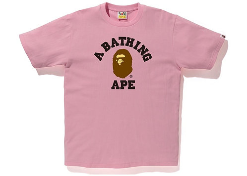 Bape College T-shirt Pink