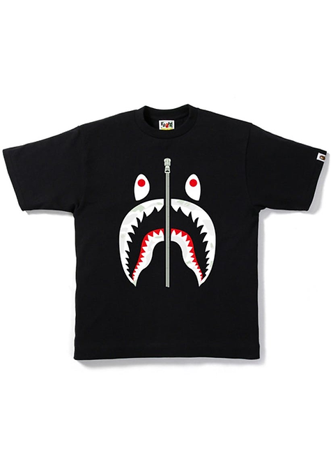 City Camo Shark Head Black (Glow In The Dark)