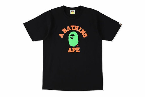 Bape Neon College T-shirt Black