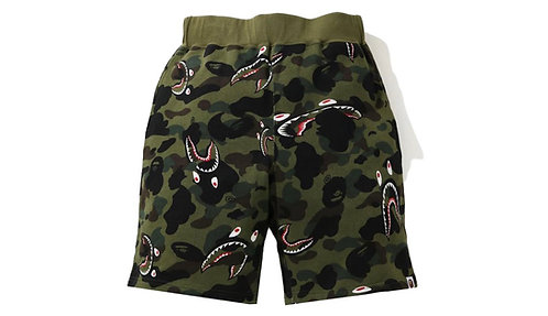 Bape Shark Sweatshorts Green Camo