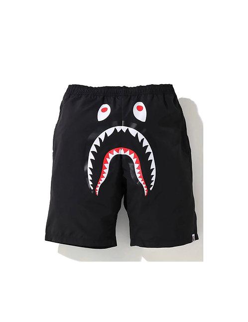 Bape Shark Beach Shorts Blk