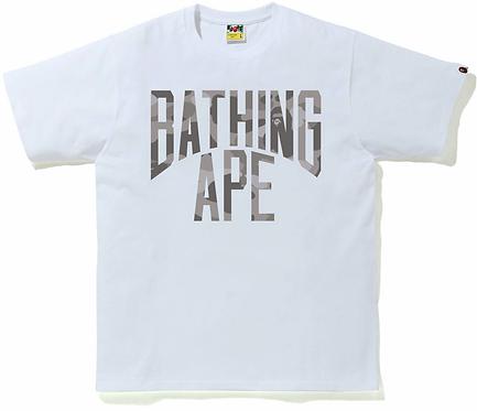 Bape NYC logo t-shirt grey Camo