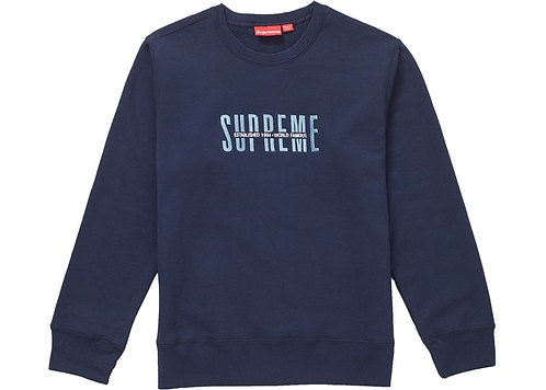 Supreme World Famous Crewneck Navy