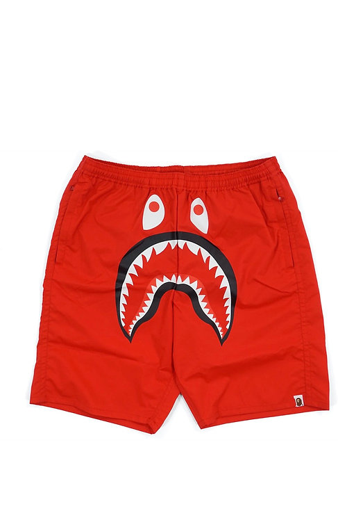 Bape Shark Beach Shorts Red