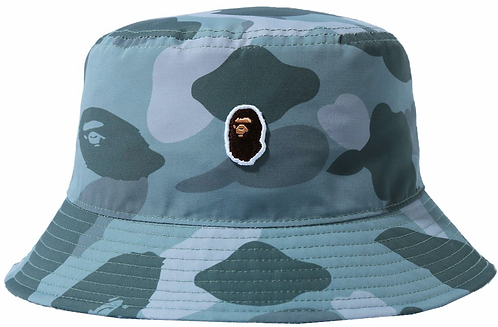 Bape One Point Bucket Hat Grey Camo