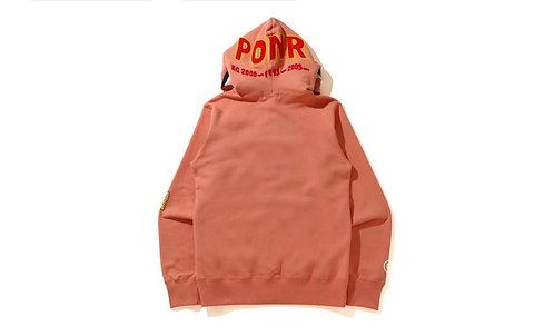 PONR Bape Full Zip Hoodie Tangerine