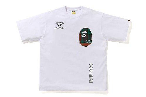 Bape Check Relaxed Fit White