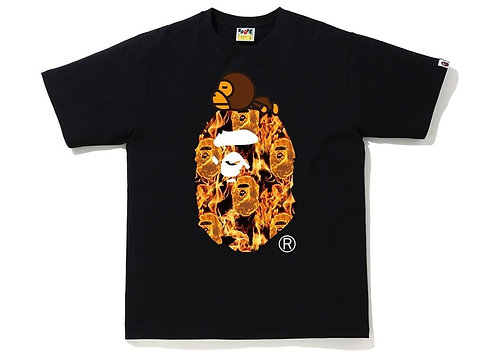Bape Flame Milo T-shirt Black