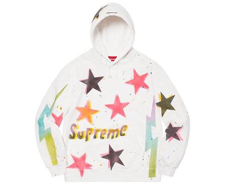 Gonz Stars Hoodie White