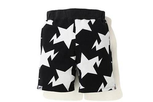 Sta Pattern Bape Shorts Black
