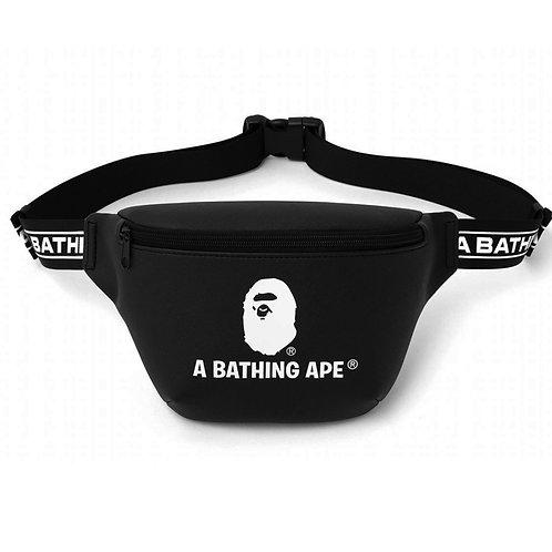 Bape Logo Shoulder Bag Leather