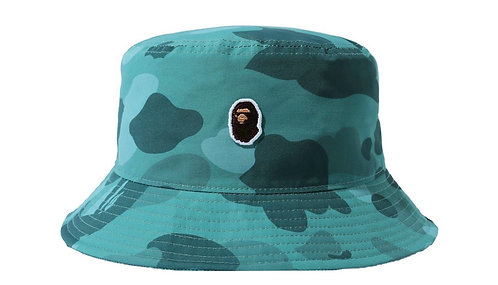 Bape One Point Teal Bucket Hat