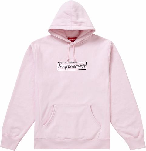 Supreme Kaws Box Logo Pink