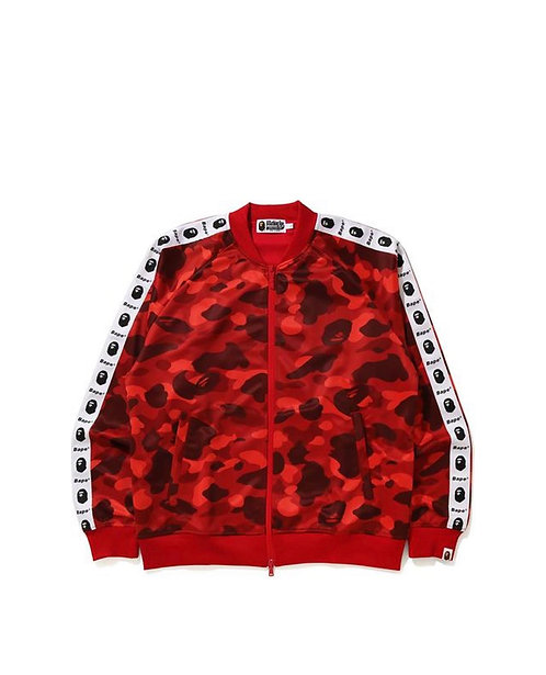 Bape Color Camo Tape Jacket Red