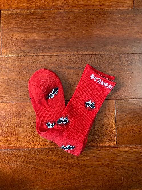Chrome Hearts Maty Boy Socks Red