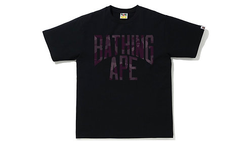 Bape NYC Logo Tshirt Burgandy Color Camo