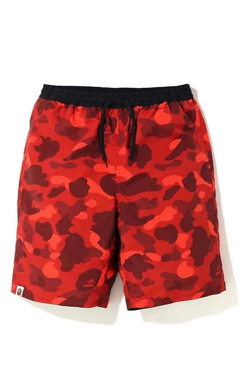 Bape Color Camo Reversable Shorts Red/Blk