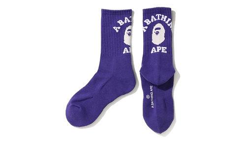 Bape College Socks Purple