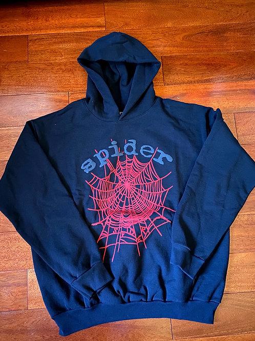 Spider Hoodie Black