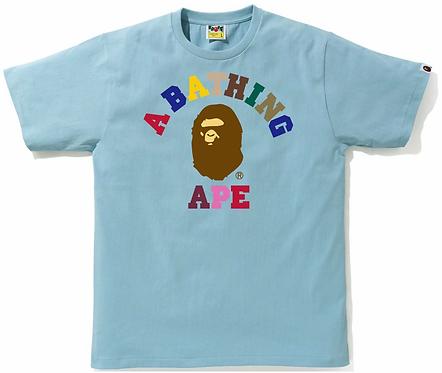 Bape Colors College T-shirt Sax