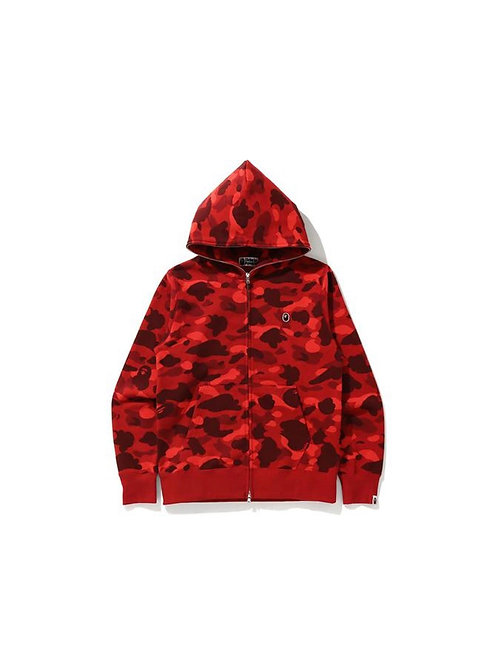 Bape Full Zip Color Camo Red One Point