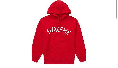 Supreme FTP Script Hoodie Red