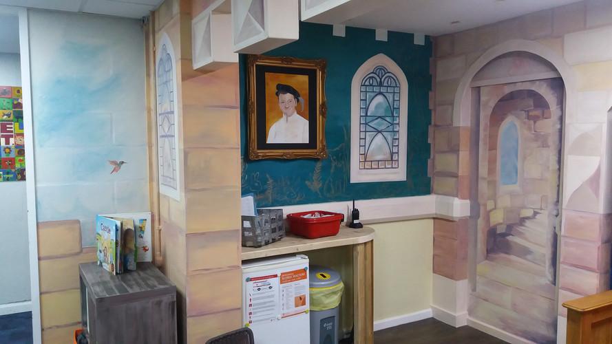 Corner of the throne room