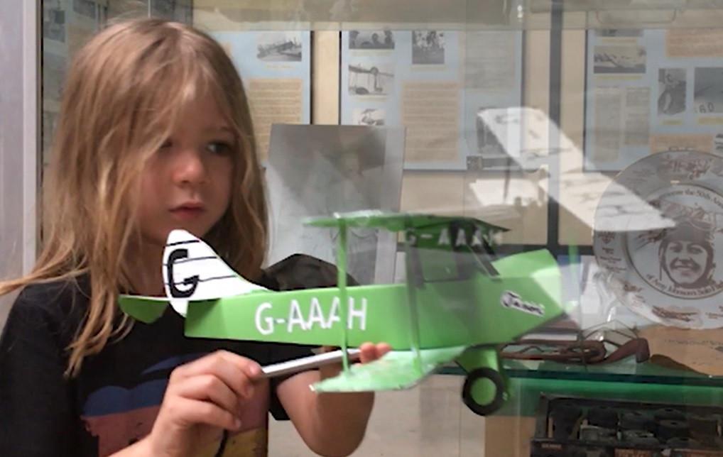 Finn Manley with his Jason plane