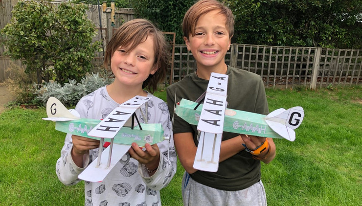 Harry and Jack Levine with their Jason planes