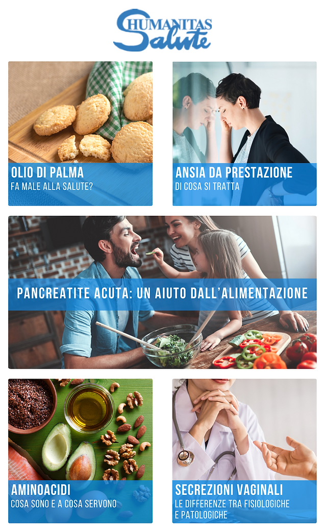 Pancreatite acuta e alimentazione | L'olio di palma fa male? | Ansia da prestazione, cos'è