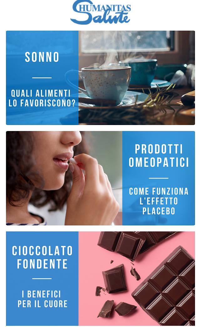 Sonno, gli alimenti che lo favoriscono | Il cioccolato fondente fa bene al cuore? | Prodotti omeopatici e l'effetto placebo